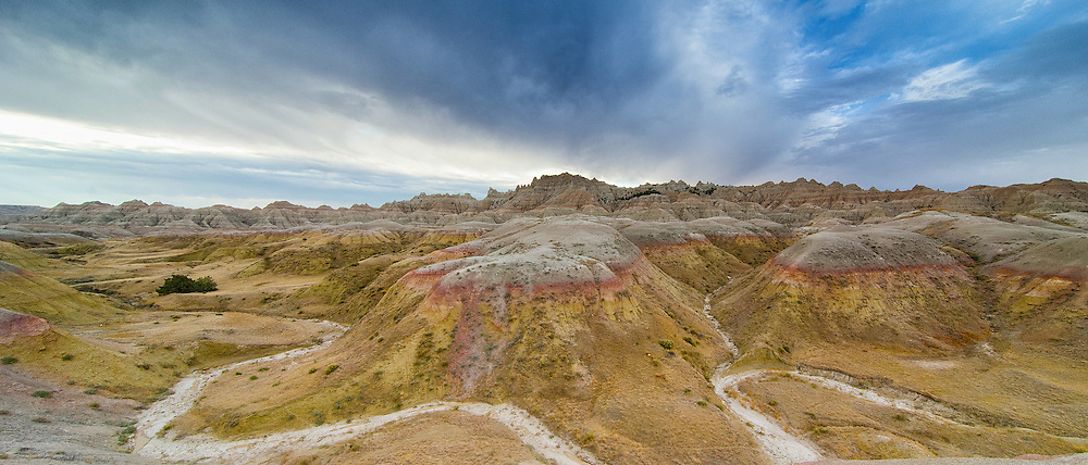 Yellowmounds formation at the Badlands National Park, South Dakota
