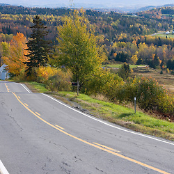 The view south from New Hampshire Route 145 in Clarksville, New Hampshire.  Fall.