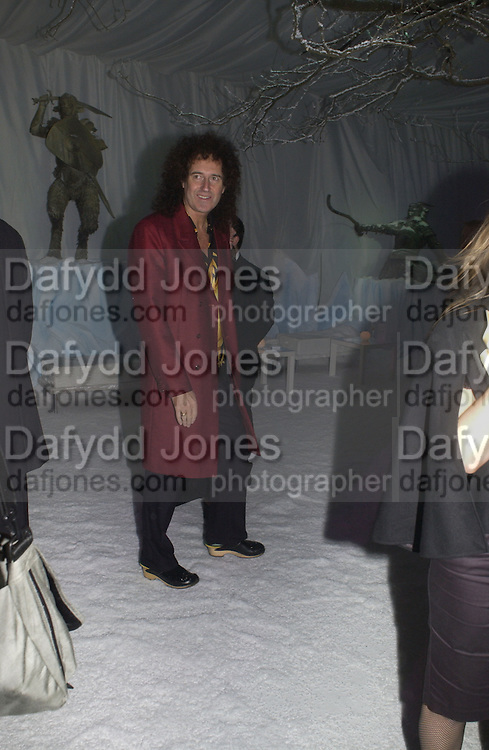 """Brian May. Royal Film Performance and World Premiere of """"The Chronicles Of Narnia"""" at the Royal Albert Hall. London and after-party in Kensington Gardens. 7 December  2005.ONE TIME USE ONLY - DO NOT ARCHIVE  © Copyright Photograph by Dafydd Jones 66 Stockwell Park Rd. London SW9 0DA Tel 020 7733 0108 www.dafjones.com"""