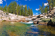 Cascade on the Tuolumne River, Tuolumne Meadows, Yosemite National Park, California