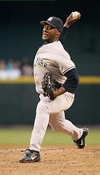 Phoenix, AZ 06-15-04 New York Yankees' pitcher Jose Contreras pitches against the Arizona Diamondbacks. Contreras pitched 6.1 innings allowing 5 hits and 2 runs. The Yankees won 4-2. Ross Mason photo
