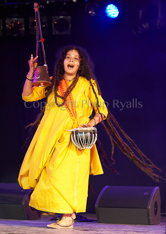 Parvathy Baul and Somjit Dasgupta, Womad, Malmesbury, Wiltshire, United Kingdom, July 29th, 2017 (Copyright Philip Ryalls)