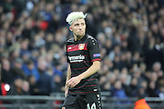 Bayer Leverkusen midfielder Kevin Kampl (44) looking into the box during the Champions League match between Tottenham Hotspur and Bayer Leverkusen at Wembley Stadium, London, England on 2 November 2016. Photo by Matthew Redman.