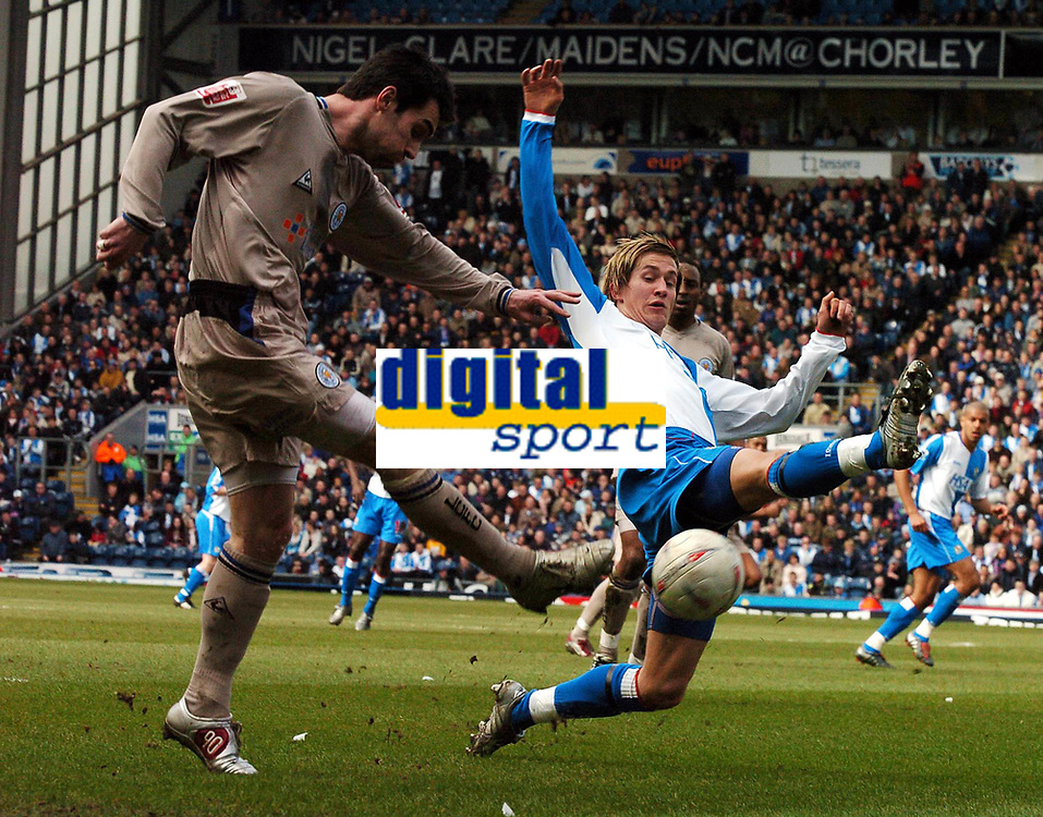 BLACKBURN ROVERS V LEICESTER CITY FAC6 13/03/05<br />