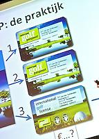 UTRECHT - NVG ( Ned. Ver. Golfaccomodaties) , 17e editie Nationaal Golf Congres & Beurs. Spreekbeurt van Dirk-Jan Vink FOTO KOEN SUYK