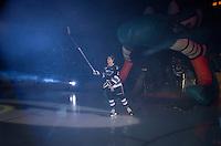 KELOWNA, CANADA - SEPTEMBER 25: Alexander Uryga #12 of Kelowna Rockets enters the ice during the season home opener against the Kamloops Blazers on September 25, 2015 at Prospera Place in Kelowna, British Columbia, Canada.  (Photo by Marissa Baecker/Shoot the Breeze)  *** Local Caption *** Alexander Uryga;