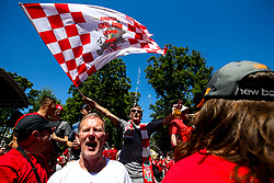 Liverpool fans begin to arrive in the fan park ahead of the Champions League Final against Real Madrid - Mandatory by-line: Robbie Stephenson/JMP - 26/05/2018 - FOOTBALL - Olympic Stadium - Kiev,  - Real Madrid v Liverpool - UEFA Champions League Final