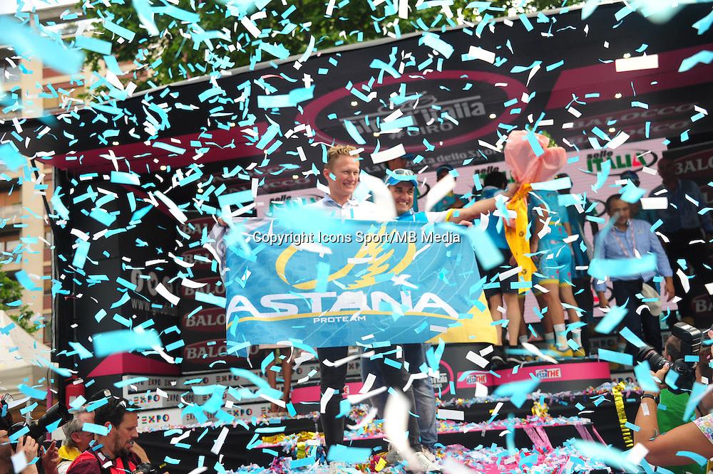 Joie Vinokourov Alexander / Borselli Federico - Astana - 31.05.2015 - Tour d'Italie - Etape 21 : Turin / Milan <br />Photo : Sirotti / Icon Sport *** Local Caption ***