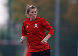 NEWPORT, WALES - Friday, October 5, 2018: Wales' Helen Ward during a training session at Dragon Park. (Pic by David Rawcliffe/Propaganda)