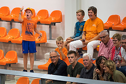 08-09-2018 NED: Netherlands - Argentina, Ede<br /> Second match of Gelderland Cup / support, fan, youth, orange