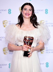 Rachel Weisz with her Best Actress in a Supporting Role Bafta for The Favourite in the press room at the 72nd British Academy Film Awards held at the Royal Albert Hall, Kensington Gore, Kensington, London.