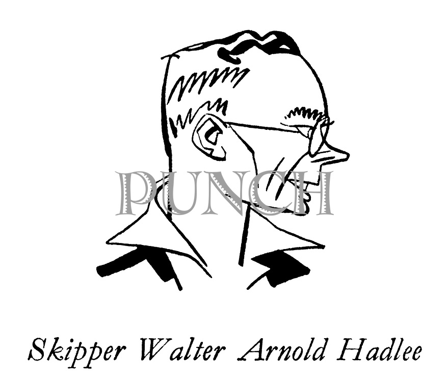 The New Zealanders ; The Cricket Team on Tour ; Skipper ; Walter Arnold Hadlee