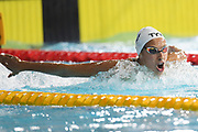Fantine Lesaffre (FRA) competes and wins the gold medal on Women's 400 m Medley final during the Swimming European Championships Glasgow 2018, at Tollcross International Swimming Centre, in Glasgow, Great Britain, Day 2, on August 3, 2018 - Photo Stephane Kempinaire / KMSP / ProSportsImages / DPPI