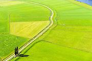 Nederland, Overijssel, Genemuiden, 23-08-2016; polder Groot Cellemuiden, de dijk bij het Zwarte Water.<br /> Polder with dike.<br /> luchtfoto (toeslag op standard tarieven);<br /> aerial photo (additional fee required);<br /> copyright foto/photo Siebe Swart