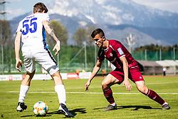 Kryeziu Egzon of NK Triglav and Kristijan Sipek of ND Gorica during Football match between NK Triglav Kranj and ND Gorica in 30th Round of Prva liga Telekom Slovenije 2018/19, on May 2nd, 2019, in Sports park Kranj, Slovenia. Photo by Grega Valancic / Sportida