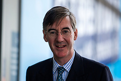 © Licensed to London News Pictures. 29/09/2019. Manchester, UK. Jacob Rees-Mogg on first day of the Conservative Party Conference at Manchester Central in Manchester. Photo credit: Andrew McCaren/LNP