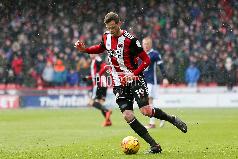 Richard Stearman of Sheffield United (19) during the EFL Sky Bet Championship match between Sheffield United and Nottingham Forest at Bramall Lane, Sheffield, England on 17 March 2018. Picture by Mick Haynes.