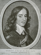 William II, Prince of Orange (1626-1650) was Sovereign Prince of Orange and Stadtholder of the United Provinces of the Netherlands from 14 March 1647 until his death three years later.  William was the son of Stadtholder Frederik Hendrik of Orange and Amalia of Solms-Braunfels. On May 2nd 1641, he married Mary Henrietta Stuart, the Princess Royal, eldest daughter of King Charles I of England and Queen Henrietta Maria in the Chapel Royal Whitehall Palace, London.  In 1648 he opposed acceptance of the Treaty of Minster, despite the fact that it recognised the independence of the Netherlands.