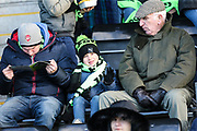 Young FGR fan during the EFL Sky Bet League 2 match between Forest Green Rovers and Cheltenham Town at the New Lawn, Forest Green, United Kingdom on 25 November 2017. Photo by Shane Healey.