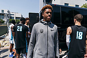 THOUSAND OAKS, CA Sunday, August 12, 2018 - Nike Basketball Academy. Armando Bacot Jr 2019 #33 of IMG Academy outside of Soutwest College. <br /> NOTE TO USER: Mandatory Copyright Notice: Photo by Jon Lopez / Nike