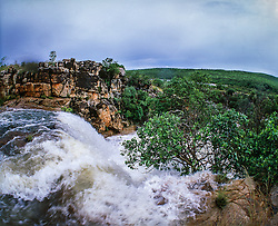 A tributary of the Isdell River flows in the KImberley wet season.