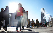 Students arrive at the State Capitol during the 21st Annual Rev. Dr. Martin Luther King, Jr. Youth Rally and March Monday, Jan. 18, 2016, in Lincoln.