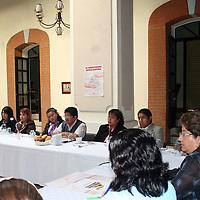 TOLUCA, México.- Rosalba Pineda Ramírez, responsable de Trabajo Educativo del Movimiento Antorchista, anunció que el 26,27 y 28 de junio, en Tecomatlán, Puebla, se llevará a cabo el primer Congreso Nacional Antorchista Magisterial, donde acudirán profesores de las 32 entidades federativas y en el que se espera una asistencia de más de 700 profesores, con el objetivo de mejorar la calidad educativa. Agencia MVT / José Hernández. (DIGITAL)