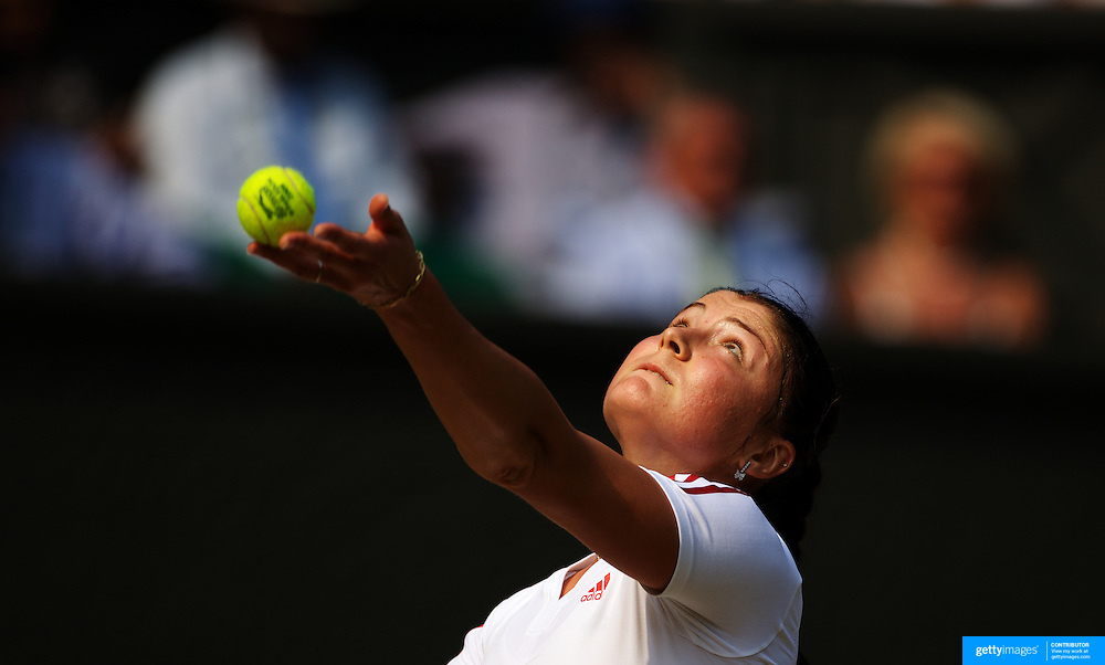 Dinara Safina, Russia,  in action against Venus Williams, USA,  in the Women's Singles Semi-Final at the All England Lawn Tennis Championships at Wimbledon, London, England on Thursday, July 02, 2009. Photo Tim Clayton..