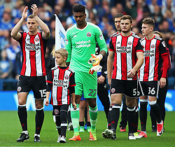 Paul Coutts of Sheffield United leads out the team - Mandatory by-line:  Matt McNulty/JMP - 24/09/2017 - FOOTBALL - Hillsborough - Sheffield, England - Sheffield Wednesday v Sheffield United - Sky Bet Championship