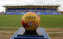 A general view of the official winter EFL Mitre match ball on display at the ABAX Stadium - Mandatory by-line: Joe Dent/JMP - 25/02/2017 - FOOTBALL - ABAX Stadium - Peterborough, England - Peterborough United v Rochdale - Sky Bet League One