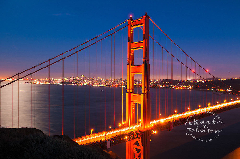 Golden Gate Bridge & San Francisco at night, California