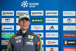 Jurij Tepes of nordic ski jumping team during Media day of Ski Association of Slovenia before new winter season 2014/15 on October 20, 2014 in Hisa Kulinarike Jezersek, Sora, Slovenia. (Photo by Matic Klansek Velej / Sportida)