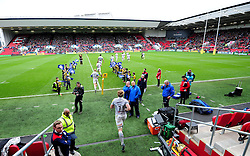 Bath Rugby players take to the field  - Mandatory by-line: Joe Meredith/JMP - 26/02/2017 - RUGBY - Ashton Gate - Bristol, England - Bristol Rugby v Bath Rugby - Aviva Premiership
