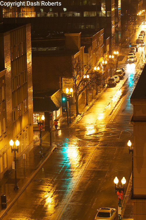 Knoxville in the rain.