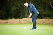 Francesco Molinari of Italy puts during the British Masters 2018 at Walton Heath Golf Course, Walton On the Hill, Surrey  on 11 October 2018. Picture by Martin Cole.
