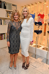 Left to right, TV presenter JACQUIE BELTRAO and MELISSA ODABASH at the Melissa Odabash & Future Dreams Preview to launch their collaborative mastectomy swimwear line in aid of the future dreams Haven appeal held at Fenwick, New Bond Street, London on 10th February 2015.