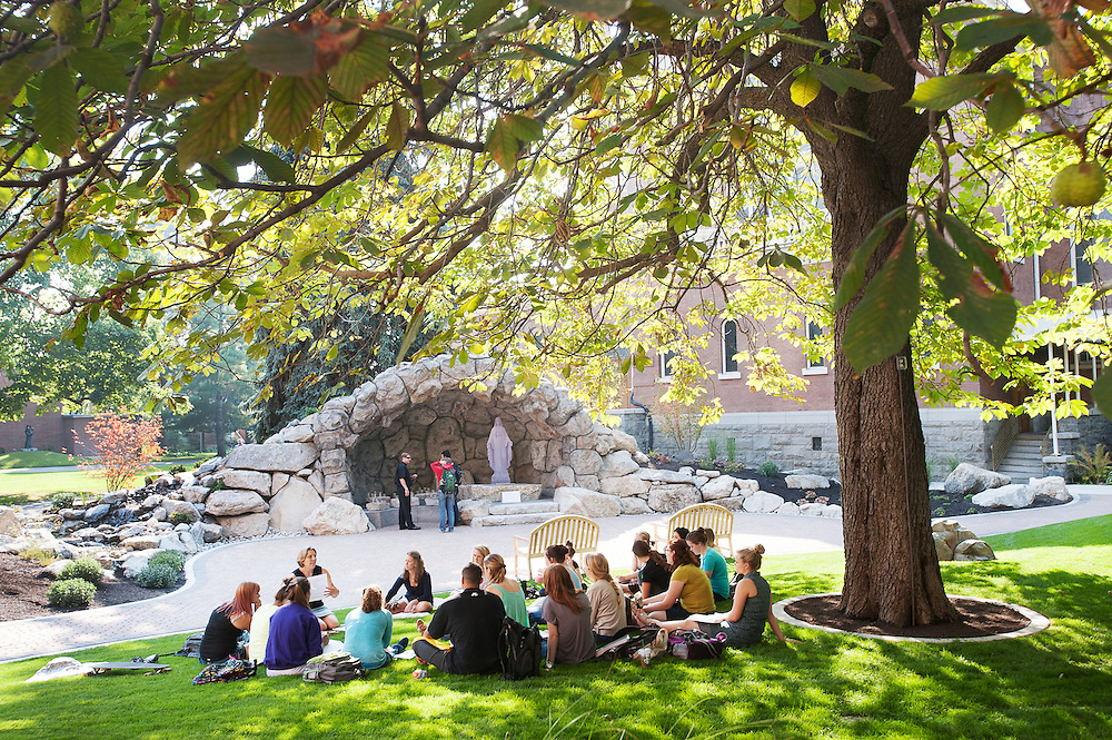 The Grotto is already a popular meeting spot for classes, especially during warmer weather.<br />