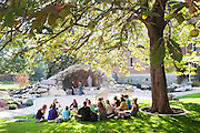 The Grotto is already a popular meeting spot for classes, especially during warmer weather.<br /> <br /> photo by rajah bose