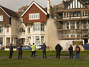 Burst water main, St Leonards on Sea. 17 March 2020