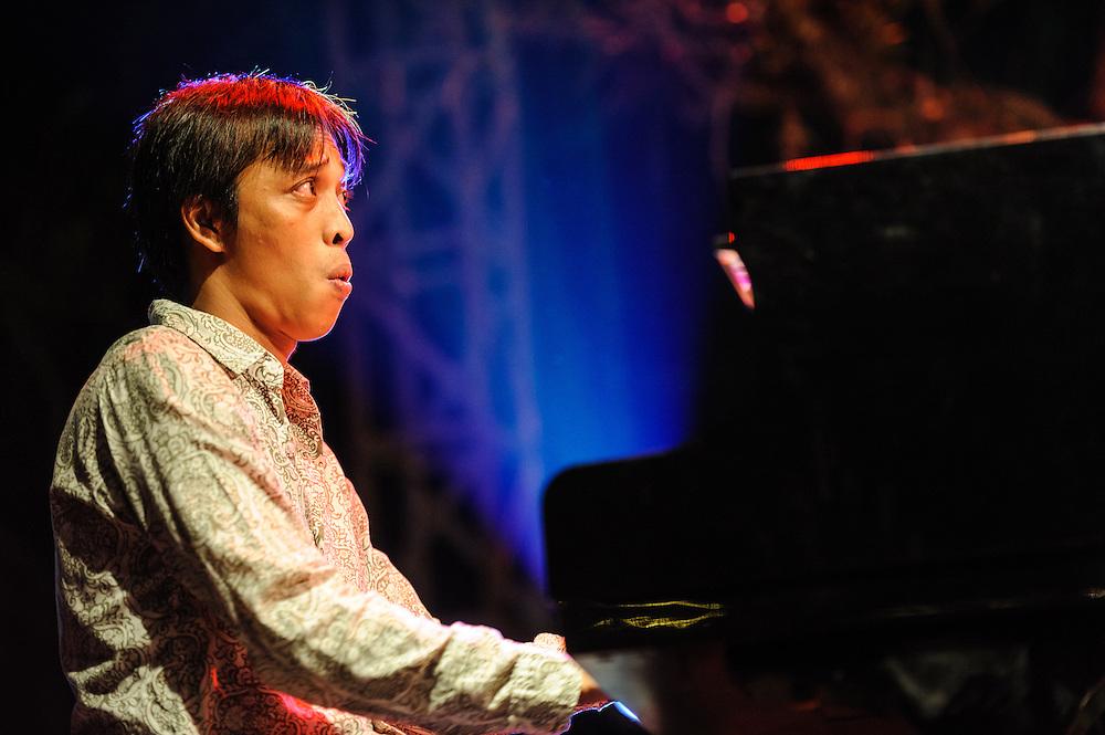 Erik Sondhy performing at the Ubud Village Jazz Festival, Ubud, Bali, Indonesia, 09/08/2013.