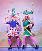 Cinderella<br /> at Hackney Empire, London, Great Britain <br /> press photocall<br /> 28th November 2011 <br /> <br /> Kat B &amp; Tony Whittle (as The Ugly Sisters)<br /> Sophie Louise Dann (as Fairy Godmother)<br /> Matt Dempsey (as Buttons)<br /> Tee Jaye (as Dandini)<br /> Wayne Perry (as Prince Charming)<br /> Sophia Ragavelas (as Cinderella)<br /> Joanna Riding (as The Wicked Stepmother)<br /> Peter Straker (as Baron Hardup)<br /> <br /> Photograph by Elliott Franks