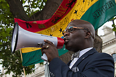 2015-08-01 Rastafarians march to Westminster demanding slave trade reparation.