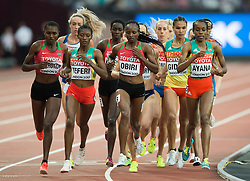 Hellen Obiri of Kenya in action - Mandatory byline: Patrick Khachfe/JMP - 07966 386802 - 13/08/2017 - ATHLETICS - London Stadium - London, England - Women's 5000m Final - IAAF World Championships