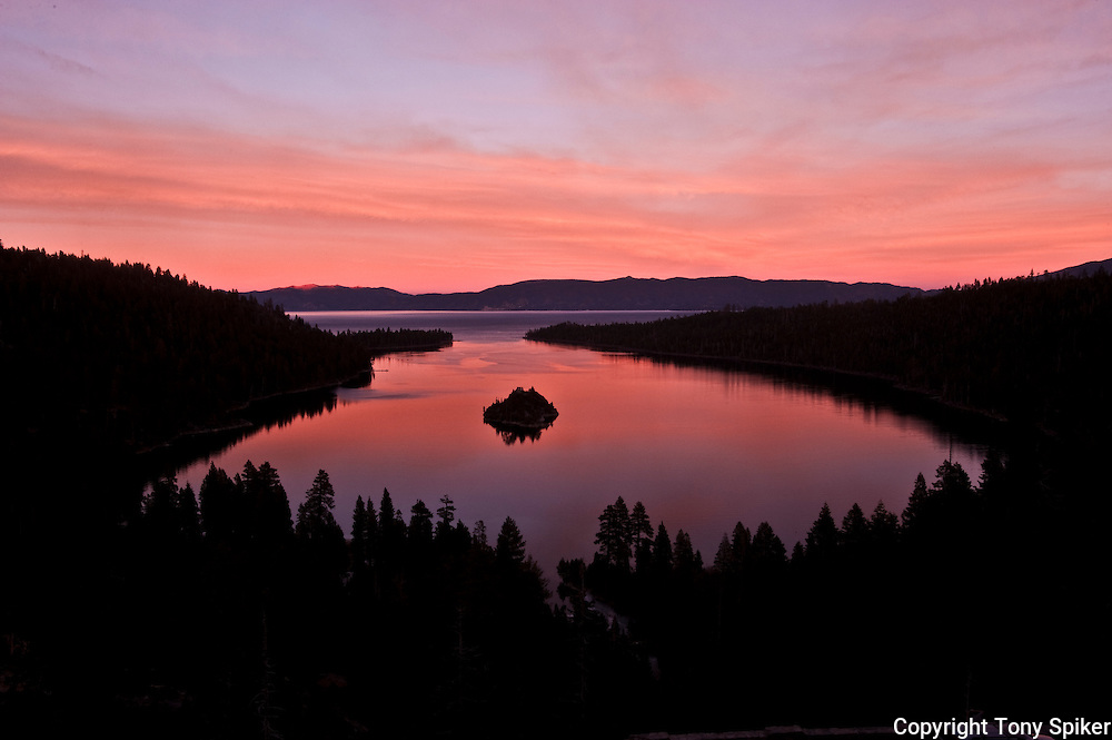 """Emerald Bay Sunset 2"" - The sun sets over Emerald Bay, Lake Tahoe"