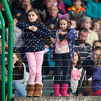 Melanie Commane from Mullagh and Aaisha O'Doherty from Ennis getting the best views of the pig racing during the Kimihil Festival of Fun