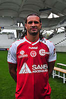 Mickael Tacalfred - 21.10.2014 - Photo officielle Reims - Ligue 1 2014/2015<br /> Photo : Philippe Le Brech / Icon Sport
