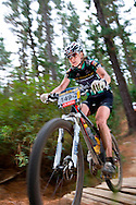 Oak Valley ( Elgin / Grabouw ), SOUTH AFRICA - Alison Sydor, mixed winner rides through the single track at High Rising during stage six , 6 , of the Absa Cape Epic Mountain Bike Stage Race in Oak Valley ( Elgin / Grabouw ) on the 27 March 2009 in the Western Cape, South Africa..Photo by Karin Schermbrucker /SPORTZPICS