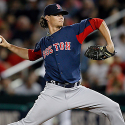 February 27, 2011; Fort Myers, FL, USA; Boston Red Sox starting pitcher Clay Buchholz (11) during a spring training exhibition game against the Minnesota Twins at Hammond Stadium.  Mandatory Credit: Derick E. Hingle