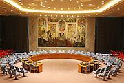 Aula del consiglio di sicurezza.<br /> United Nations Headquarters NEW YORK<br /> ONU Palazzo di vetro