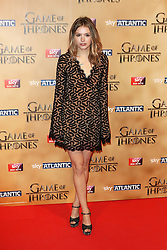 © Licensed to London News Pictures. 18/03/2015, UK. Hannah Murray (Gilly), Game of Thrones - Series Five World Premiere, Tower of London, London UK, 18 March 2015. Photo credit : Richard Goldschmidt/Piqtured/LNP